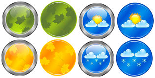 Season buttons Royalty Free Stock Photography