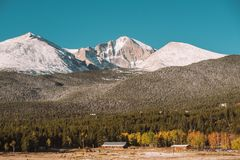 Season changing from autumn to winter. Rocky Mountains, Colorado, USA Royalty Free Stock Images