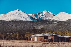 Season changing from autumn to winter. Rocky Mountains, Colorado, USA Stock Photography