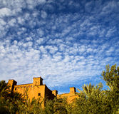 Season clouds   africa in morocco  old    contruction and the hi Stock Images