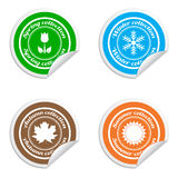 Season collection stickers. Isolated on white background Stock Photography