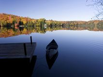 The Season Ends. Summer drifts into fall on an Ontario lake Stock Photography