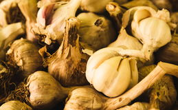 Season it with garlic! stock image