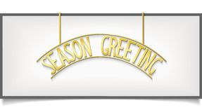 SEASON GREETING design lettering on billboard Isol Royalty Free Stock Photo