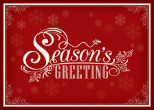 Season greeting word vintage frame design Royalty Free Stock Images