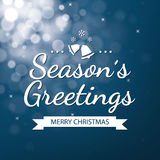 Season greetings with bokeh defocused background Stock Photography