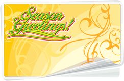 Season Greetings floral card. Season Greetings Summer Background with floral ornament Royalty Free Stock Photos