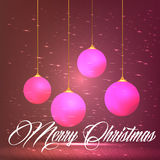 Season Greetings with pink Christmas Ornament Royalty Free Stock Photo