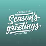 Season greetings typography composition. Vector vintage illustration. Season greetings typography composition. Decorative design element for postcards, prints Royalty Free Stock Image