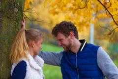 Couple in love enjoy romantic date stock image