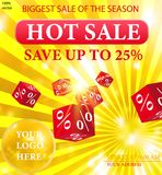 Season Hot Sale Vector template. Sale poster EPS10. Sale banner vector illustration Royalty Free Illustration