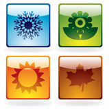 Season icons Stock Photography