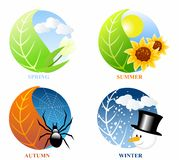 Season icons Stock Image