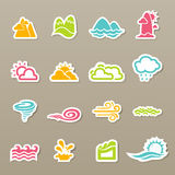 Season icons Royalty Free Stock Photography
