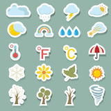 Season icons set Royalty Free Stock Photo
