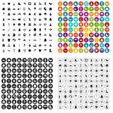 100 season icons set vector variant. 100 season icons set vector in 4 variant for any web design isolated on white Royalty Free Stock Photo