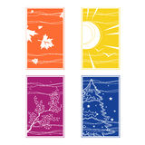Season. Illustration of the four seasons in different colors Stock Photos