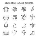 Season line icons Stock Photos