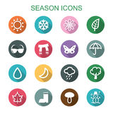 Season long shadow icons Royalty Free Stock Photos