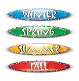 Season Names Illustration Stock Images