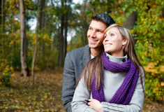 Season outdoors couple Stock Images