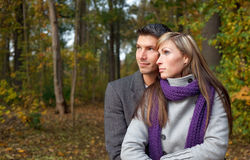 Season outdoors couple Royalty Free Stock Photos
