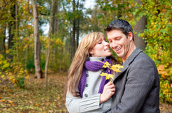 Season outdoors couple Royalty Free Stock Images