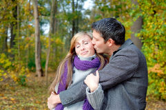Season outdoors couple Royalty Free Stock Photography