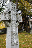 Season of peace. White celtic cross, mont-royal cemetery,Montreal Stock Photo