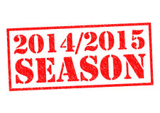 2014-2015 SEASON. Red Rubber Stamp over a white background royalty free illustration