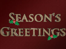 Season's Greeting Stock Image
