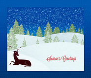 Season`s greeting card Stock Image