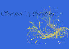 Season's greetings 1. Season's greetings illustration for the new year on colorful background Royalty Free Stock Photos