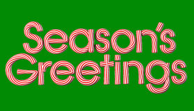 Season's Greetings. Candy cane greeting Royalty Free Stock Images