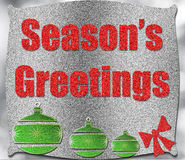 Season's greetings. Background of glitter with copy space Royalty Free Stock Photography