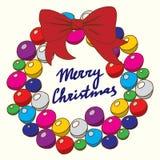 Season's Greetings card with calligraphy. Christmas frame. Christmas card. Stock Photography