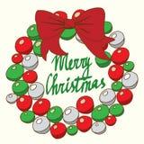 Season's Greetings card with calligraphy. Christmas frame. Christmas card. Royalty Free Stock Photo