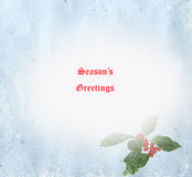 Season\\\'s Greetings Card Illustration Stock Photography