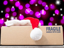 Season's Greetings with a Christmas purchase Royalty Free Stock Photo
