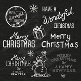 Season's Greetings Christmas Signs Royalty Free Stock Photos