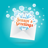 Season's Greetings Envelope Royalty Free Stock Photo