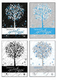 Season's greetings - greeting cards Stock Images