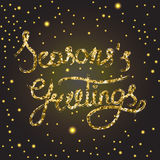 Season s greetings lettering royalty free illustration