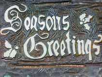 Season's Greetings Stock Photography