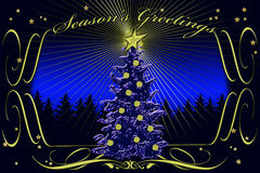 Season's Greetings stylized card Royalty Free Stock Image