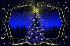 Season's Greetings stylized card Royalty Free Stock Image