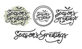Season`s Greetings Template Set. Vector Royalty Free Stock Photos
