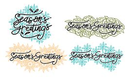 Season`s Greetings Template Set. Vector Royalty Free Stock Photography