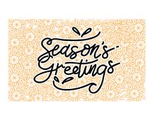 Season`s Greetings Template Vector. Isolated Royalty Free Stock Photo