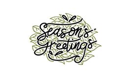 Season`s Greetings Template Vector. Isolated Stock Image